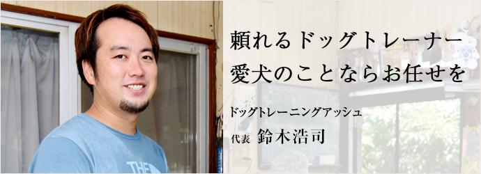 頼れるドッグトレーナー 愛犬のことならお任せを ドッグトレーニングアッシュ 代表 鈴木浩司