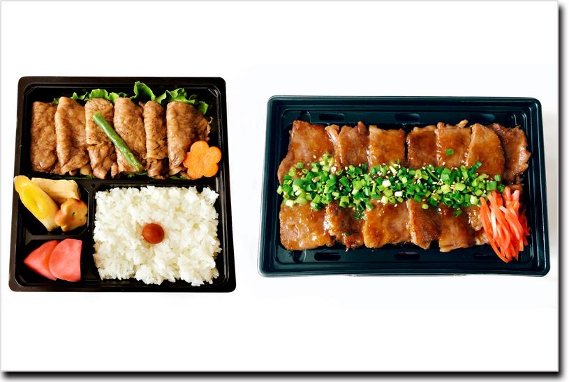 福島牛を使ったすき焼き弁当と焼肉重弁当