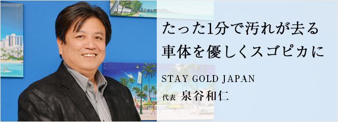 たった1分で汚れが去る 車体を優しくスゴピカに STAY GOLD JAPAN 代表 泉谷和仁