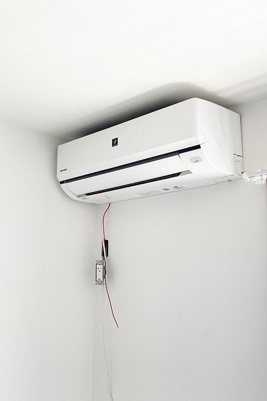 エアコン設置工事の様子②