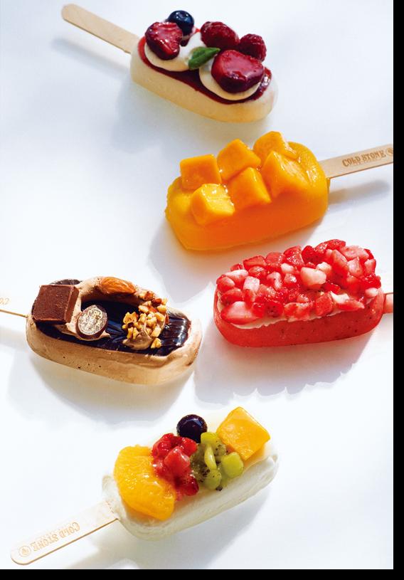 色鮮やかで高級感あるアイスキャンディ