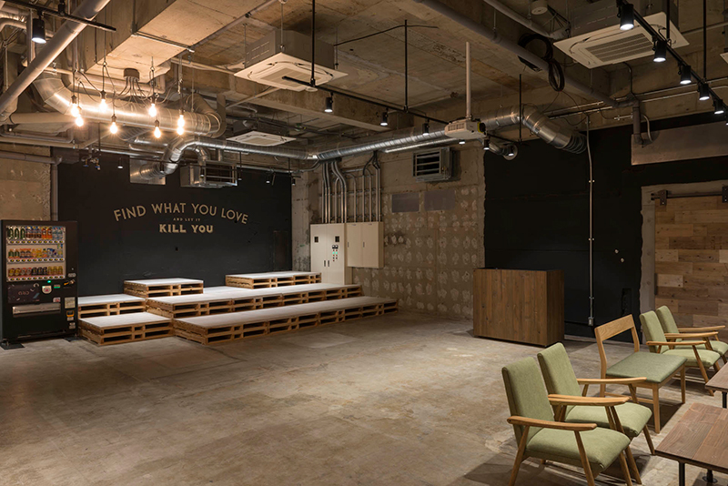 Barカウンターや音響設備を完備のレンタルスペース「Space0」