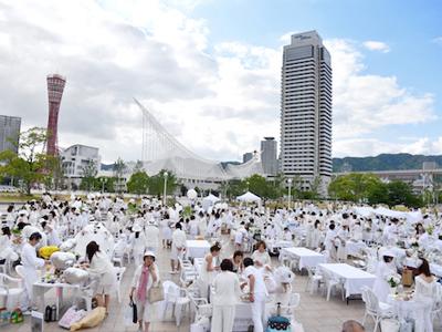 神戸旧居留地が白一色に! 注目の屋外ディナーイベント