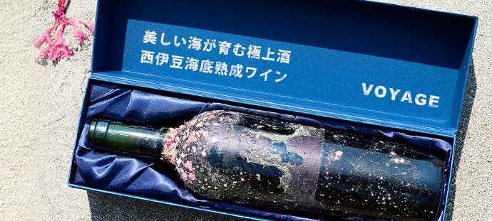 西伊豆の美しい海の底で 半年間熟成させたワイン VOYAGE