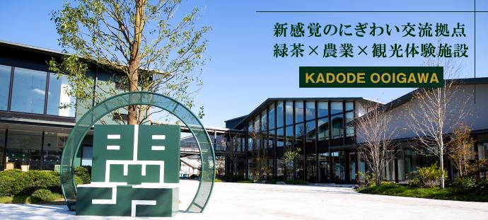 新感覚のにぎわい交流拠点 緑茶×農業×観光体験施設 KADODE OOIGAWA